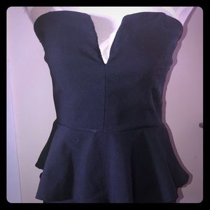 Deb peplum strapless mini dress!